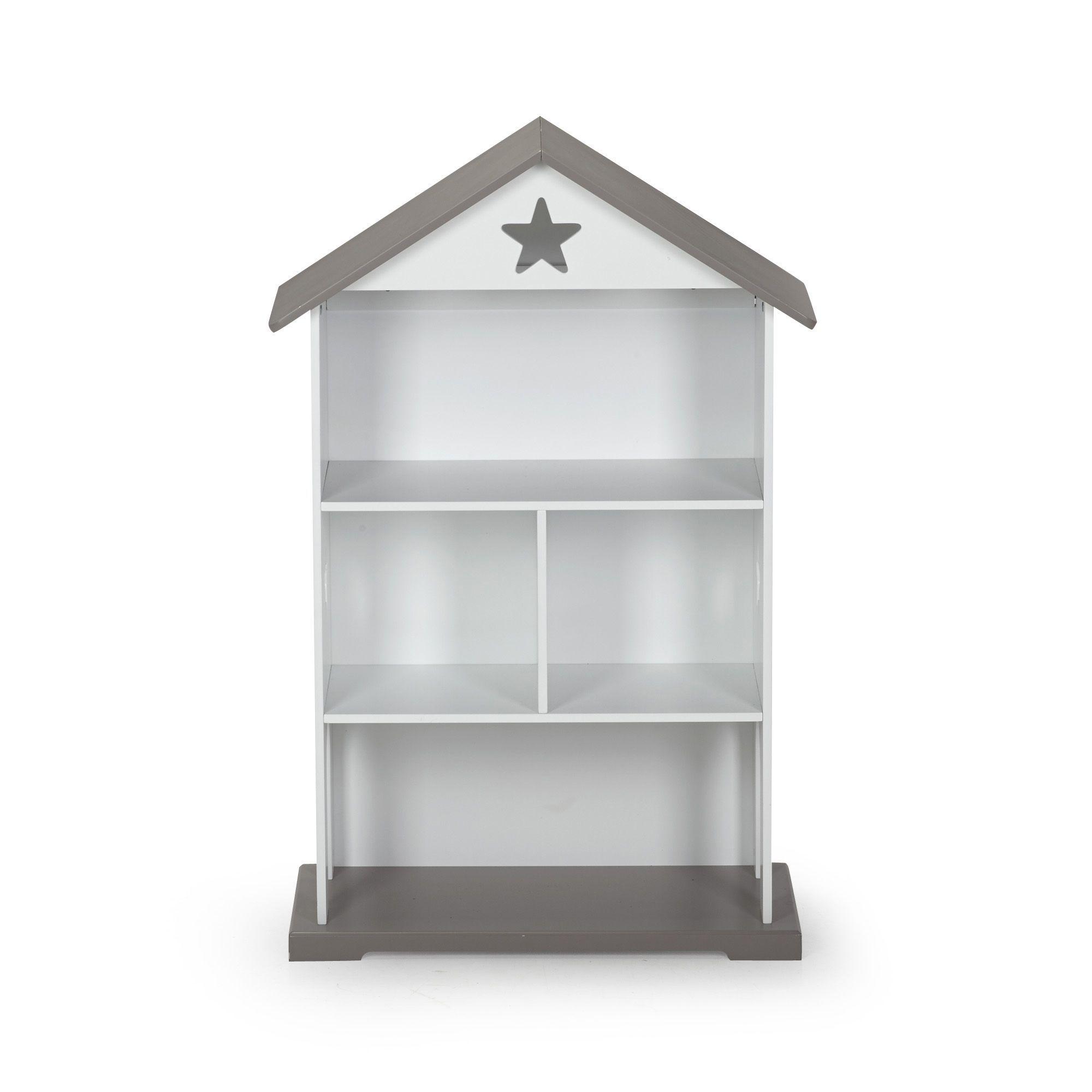 Biblioth¨que pour enfant en forme de maisonnette H109 3cm Tinni