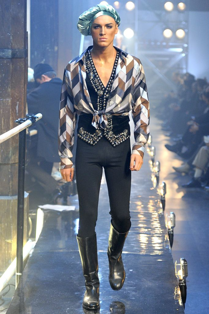 John Galliano Slideshow On Style Com Menswear Fashion Weird Fashion
