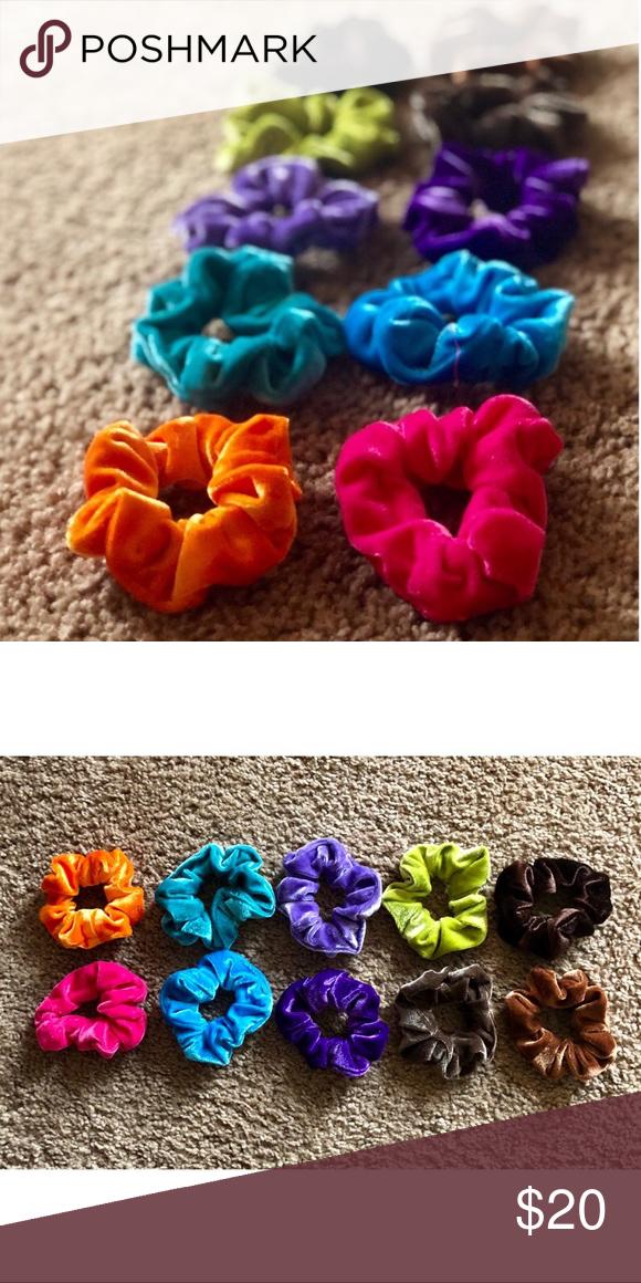 ba6d97daa1fc Bundle of Ten Velvet Scrunchies Bundle of ten velvet scrunchies! Includes  three shades of tan