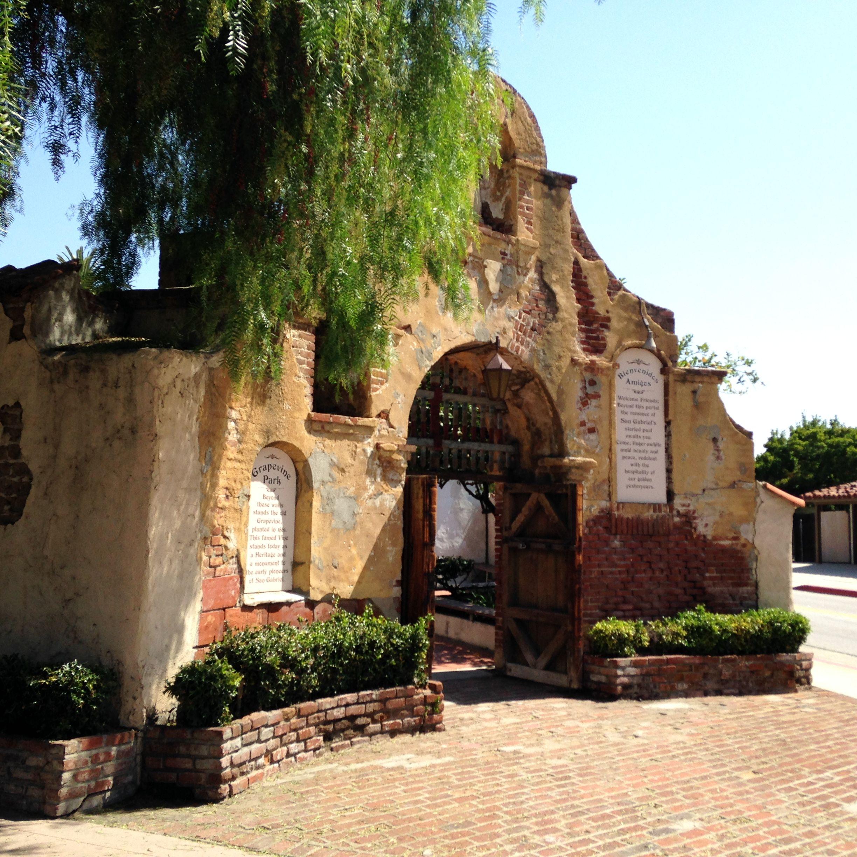 Arbor Park: Our Venue: Grapevine Arbor Park In San Gabriel (entrance