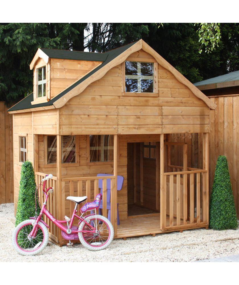 Dolls house at argos co uk your online shop for dolls houses dolls - Buy Mercia 7ft X 7ft Double Storey Dorma Playhouse At Argos Co Uk