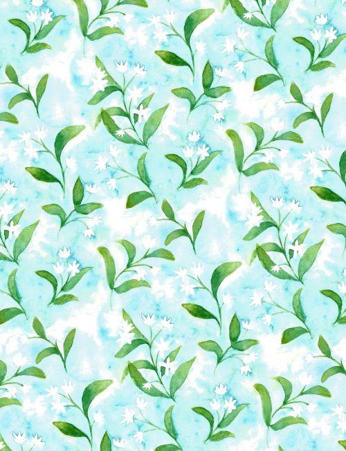 Eleanor Whyton illustration Jasmine flower pattern repeated.