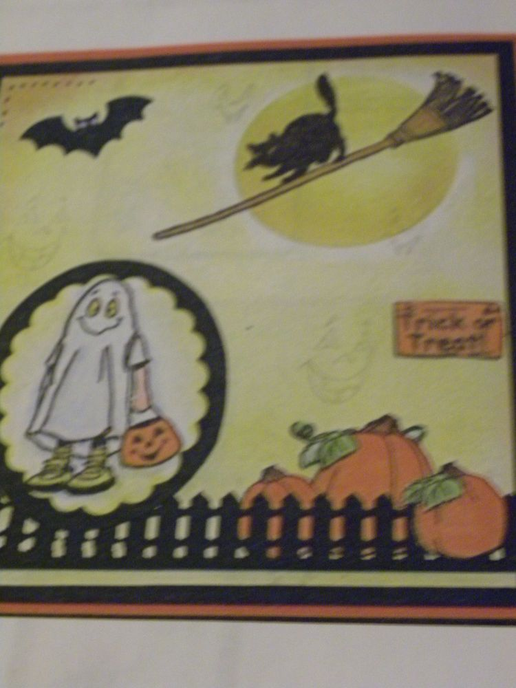 FALL HALLOWEEN 18 PC set Retired. Sells for 19.99. I only have 2 sets left. Made by: Art Impressions rubber stamps You can purchase all items in my ebay store: Pat's Rubber Stamps & Scrapbooks, Click on the picture & see the listing , or call me 423-357-4334 with order, We take PayPal. You get FREE SHIPPING ON PHONE ORDERS of $30.00 or more. If it says sold I have more. Use my search engine to find the items you are interested in