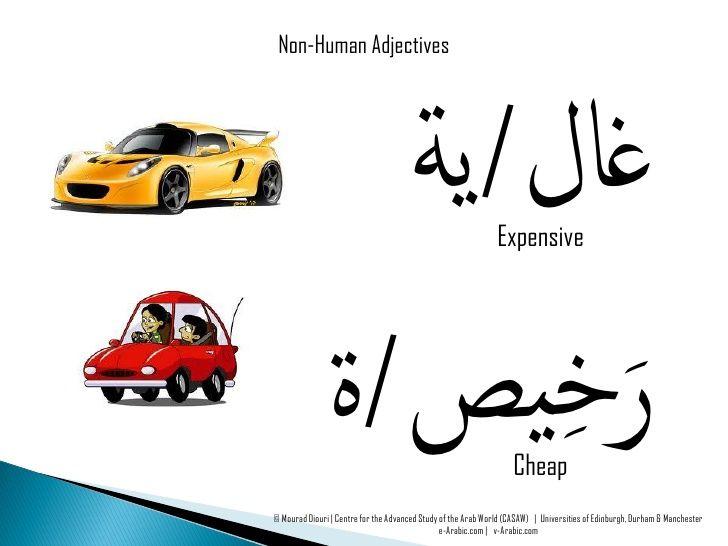 Arabic Vocabulary Adjectives Human Non Human Learning Arabic English Language Learning Grammar Arabic Phrases