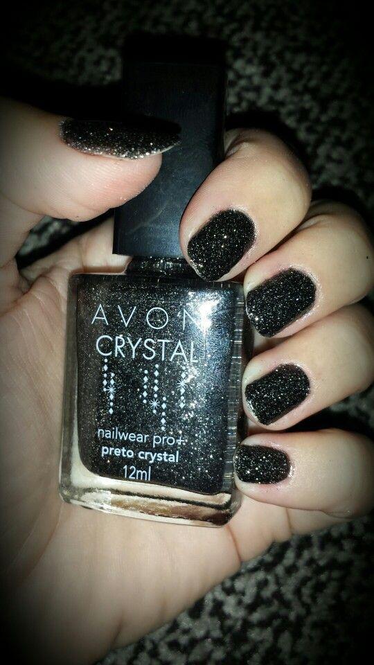 Amei esse esmalte. Avon crystal preto. | Nails | Pinterest