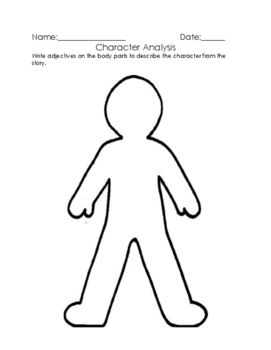 Character Description Person Outline Body Outline Body Template
