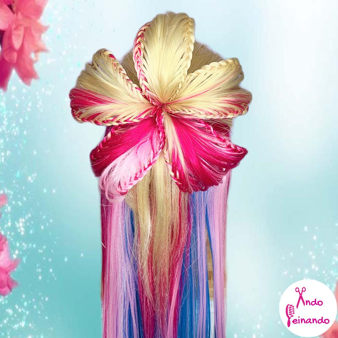 Trenza En Forma De Flor  | Peinado Para Primavera