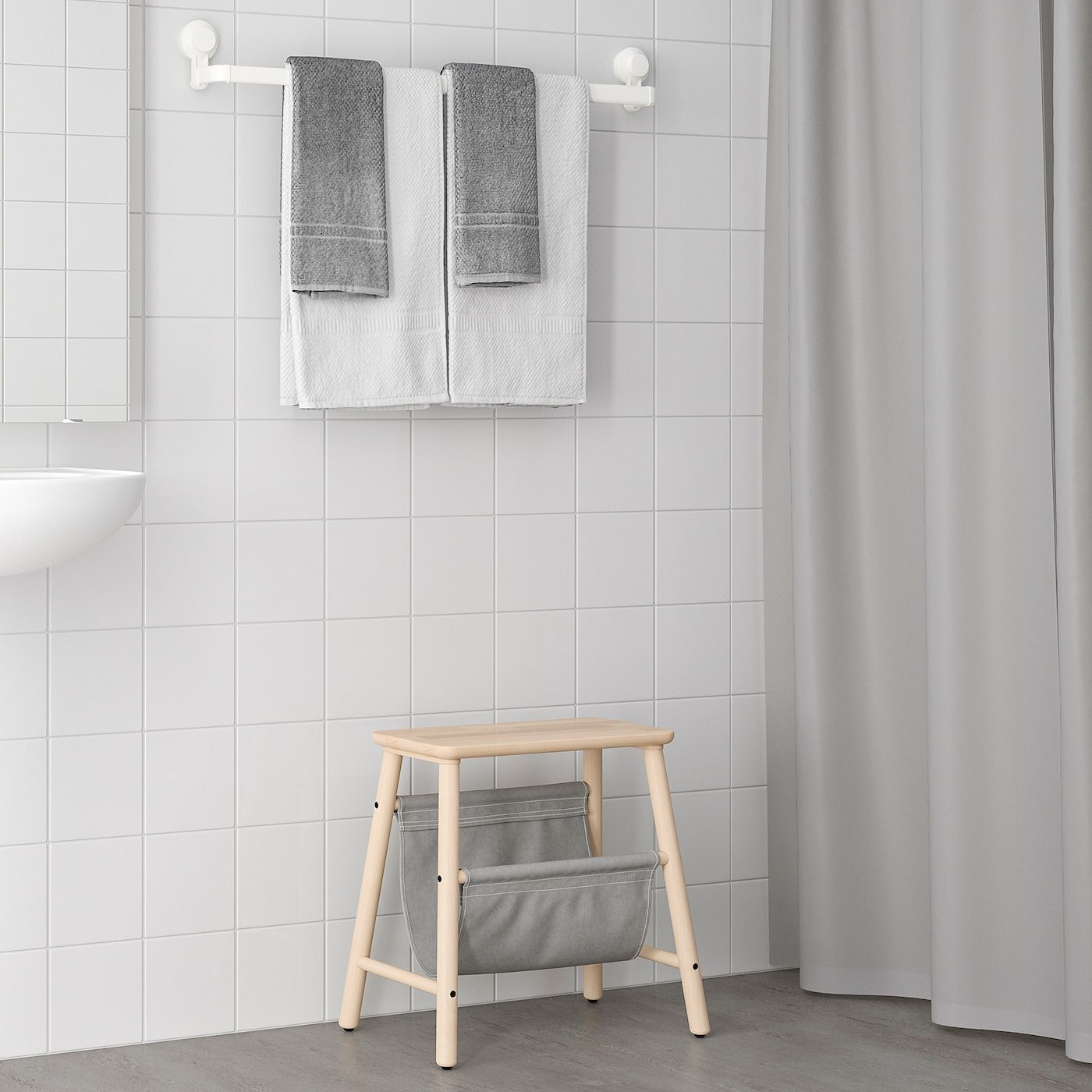 Tisken Towel Rack With Suction Cup White In 2020 Handtuchregal
