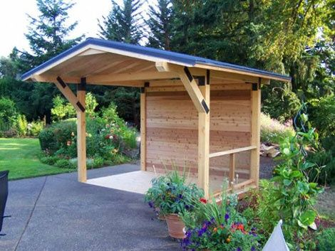 Covered Deck Ideas Small Solid Patio Cover Design With Blue Roof