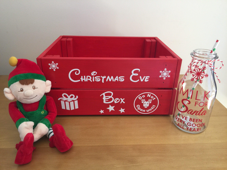 Childrenus Wooden Christmas Eve BoxCrate  christmas ideas