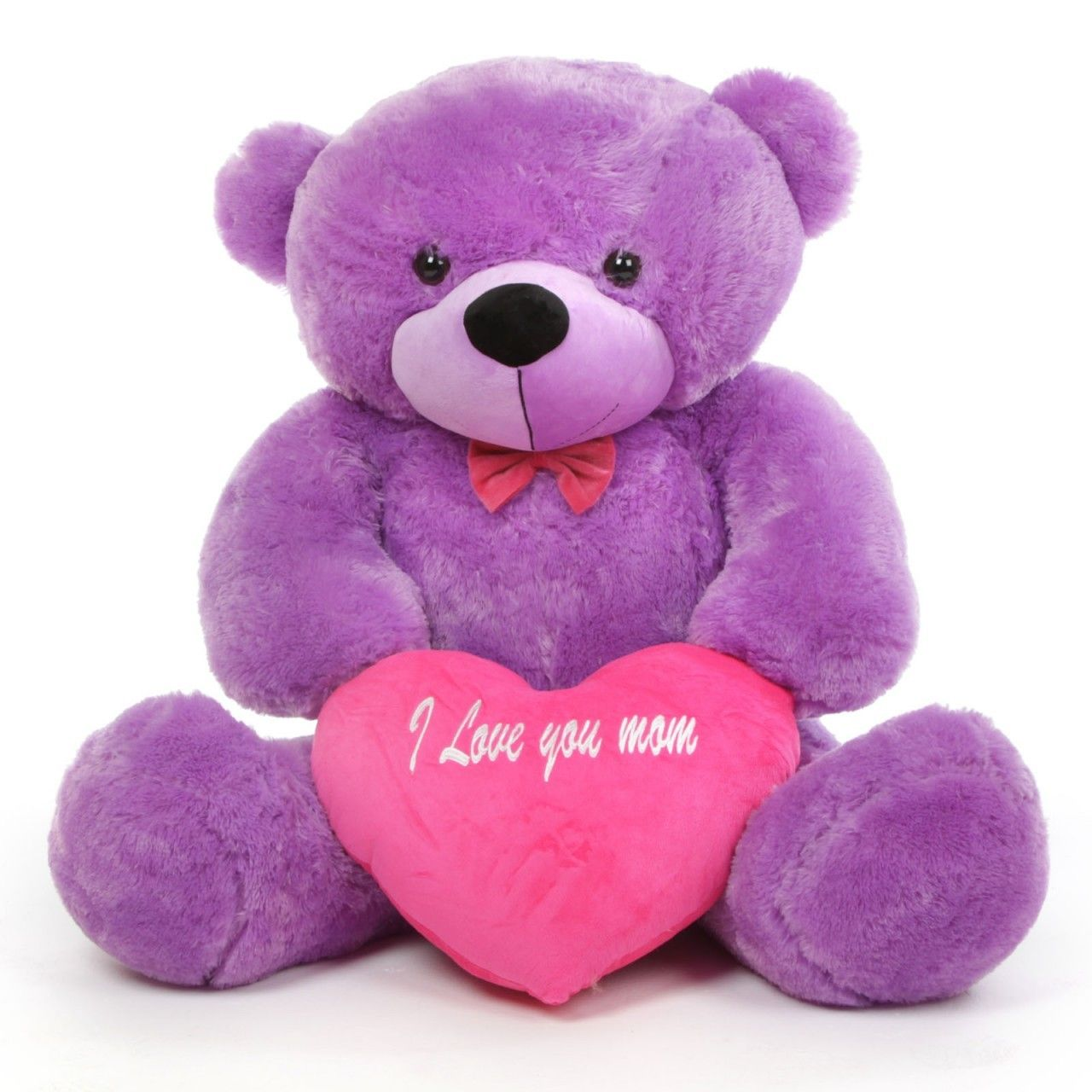 Deedee m cuddles purple teddy bear with i love you mom heart 48in pink and purple pictures deedee m cuddles purple teddy bear with i love you mom heart 48in altavistaventures Images