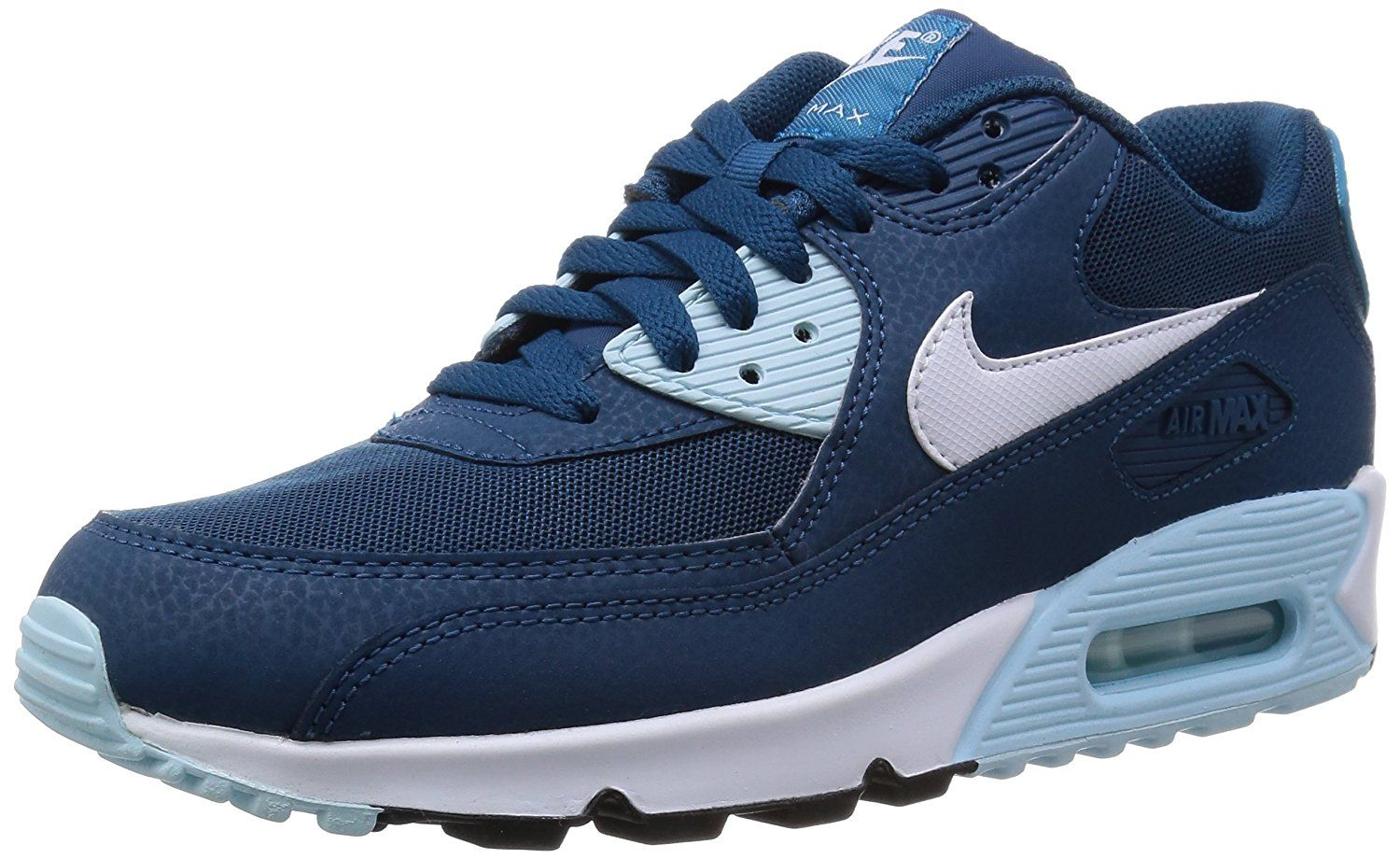 768d0ae4d4b6 NIKE WMNS AIR MAX 90 ESSENTIAL Sneakers Running Shoes 616730-400 BLUE