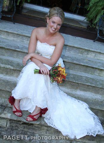 casual bridal portrait