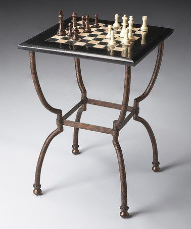 This Metal & Stone Game Table is perfect! #zulilyfinds