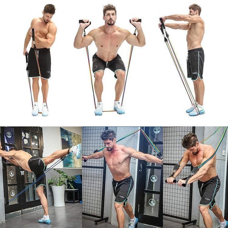 Premium Resistance Bands Exercise 11 Pcs Set Resistance Band Training Band Workout Full Body Workout
