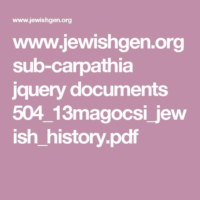 www jewishgen org sub-carpathia jquery documents
