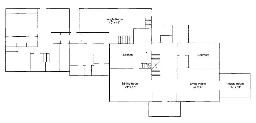 Graceland Memphis Tn Floorplan 1st Floor Graceland