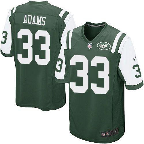 22d42380c Men s Nike New York Jets  33 Jamal Adams Game Green Team Color NFL Jersey