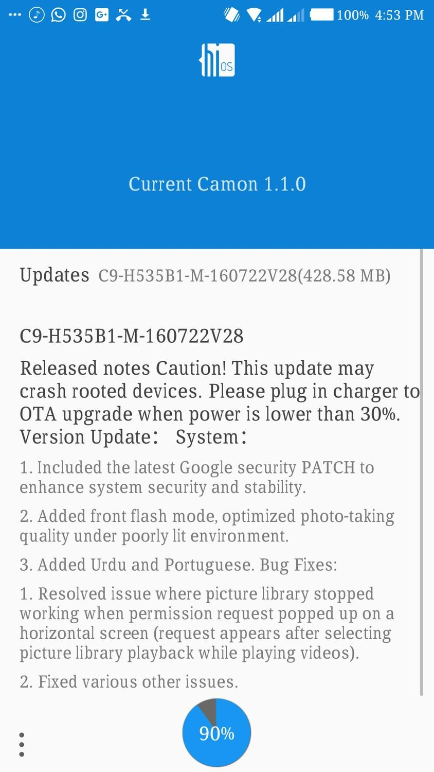 Tecno Camon C9 Update for Camera major enhancement If you own a