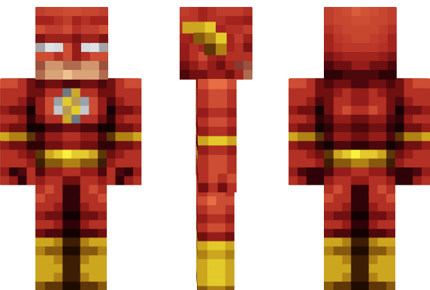 The Flash Justice League Minecraft Skin Minecraft Pinterest - Skins para minecraft pe flash