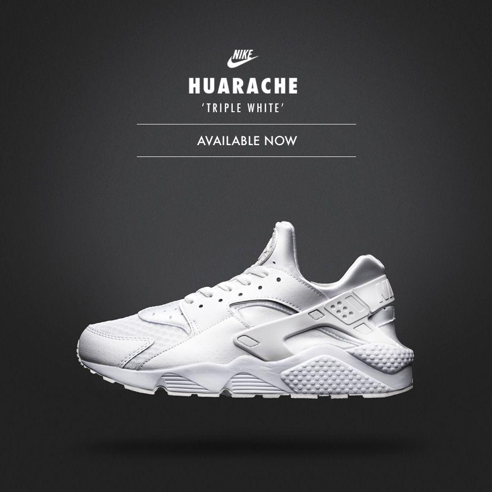 TRIPLE WHITE: The Nike Air Huarache