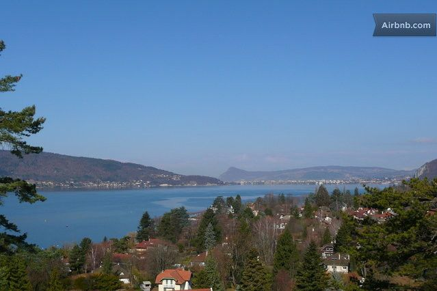 Magnifique vue du lac depuis la terrasse