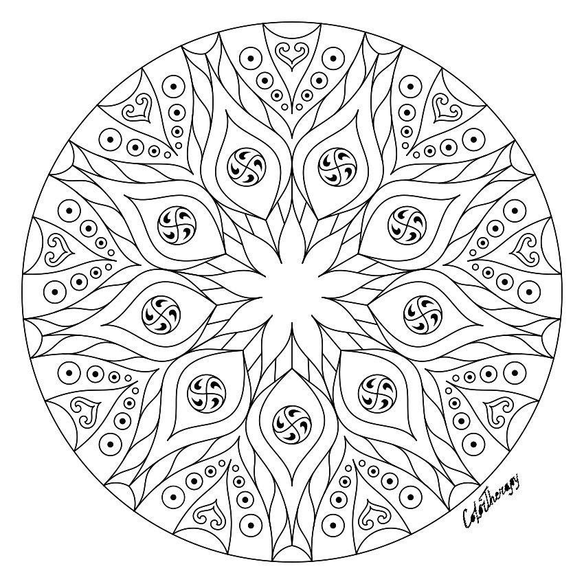 Coloring pages image by Deborah Keeton | Mandala coloring ...