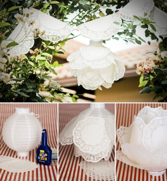 Diy Paper Doily Lantern Lanterns For Weddingswedding Decorationswedding
