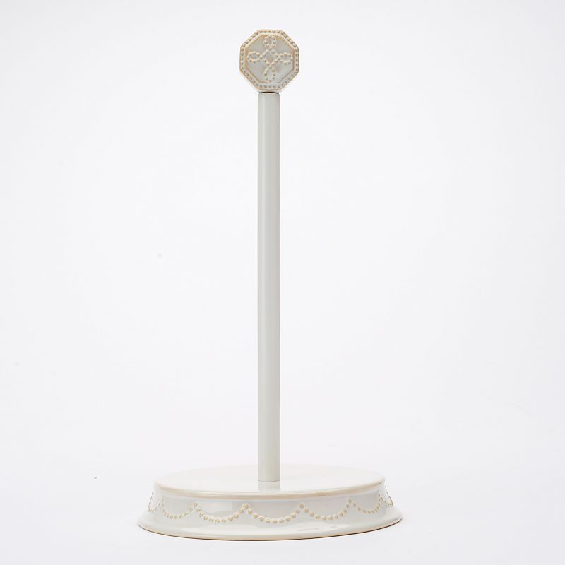 Food Network™ Fontinella Beaded Paper Towel Holder, White