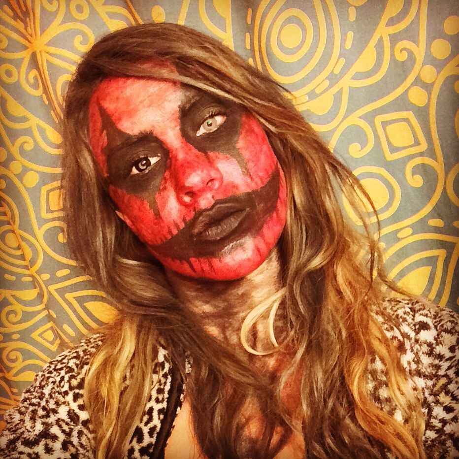 My creepy trial make up run for Halloween! Demon/devil. Red and ...
