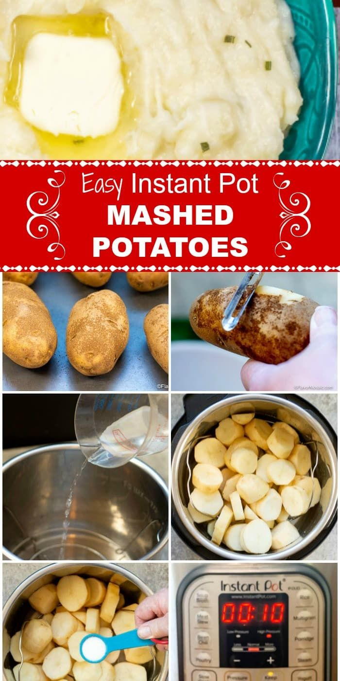 Easy Instant Pot Mashed Potatoes - Flavor Mosaic