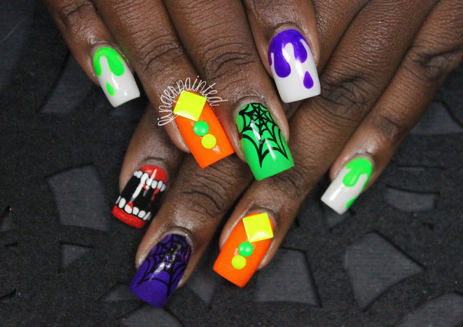 Pin von Charly Rhoades auf Halloween nail art | Pinterest