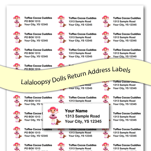 Toffee Cocoa Cuddles Lalaloopsy Custom Return Address Labels