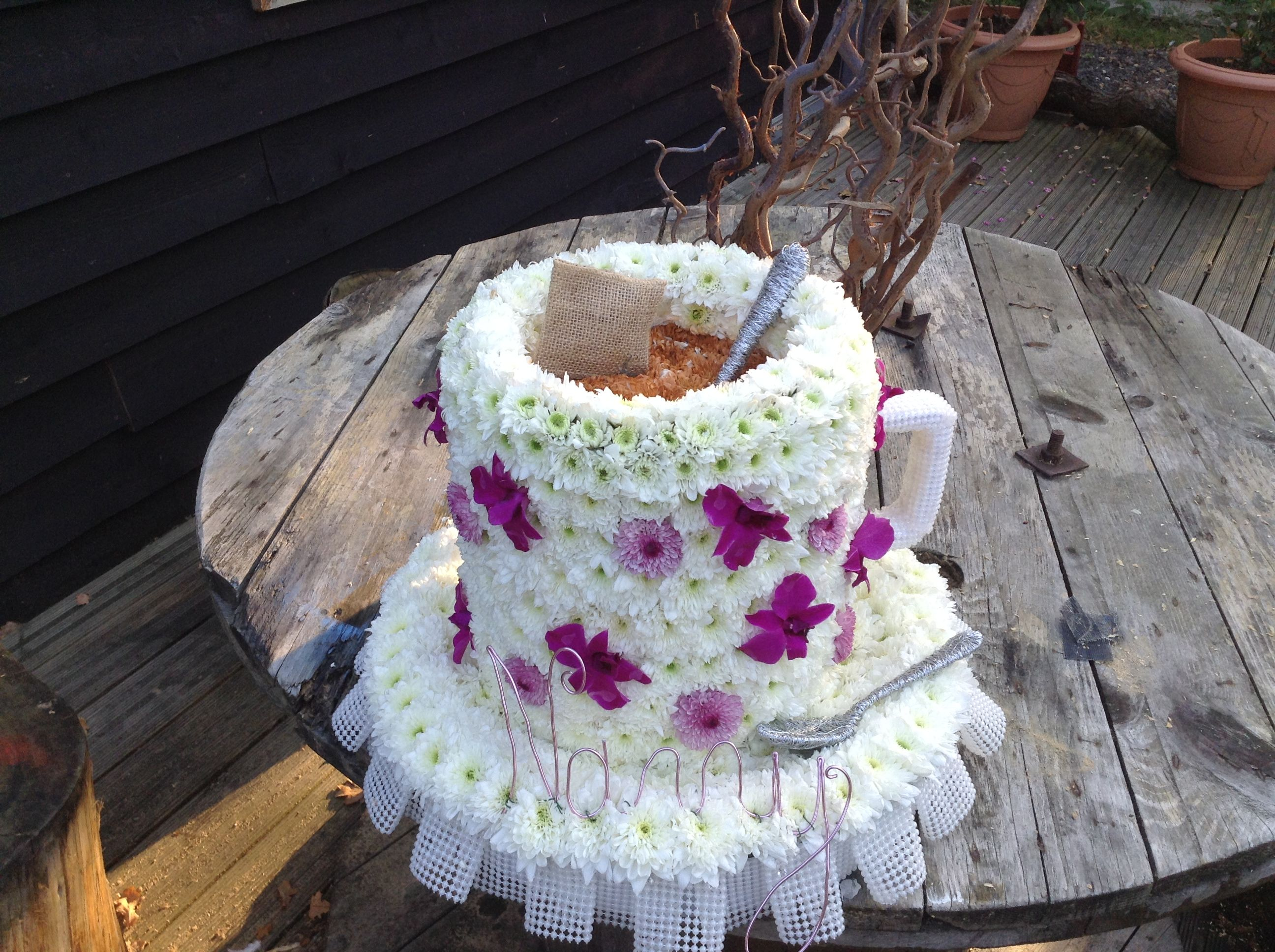 Cupmug Of Tea Funeral Flower Tribute Bespoke Funeral Flower