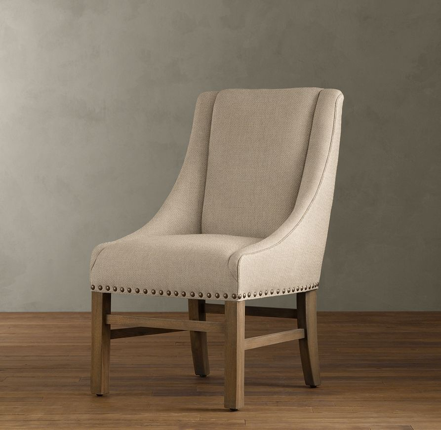 Dining Room End Chairs: Nailhead Upholstered Chair