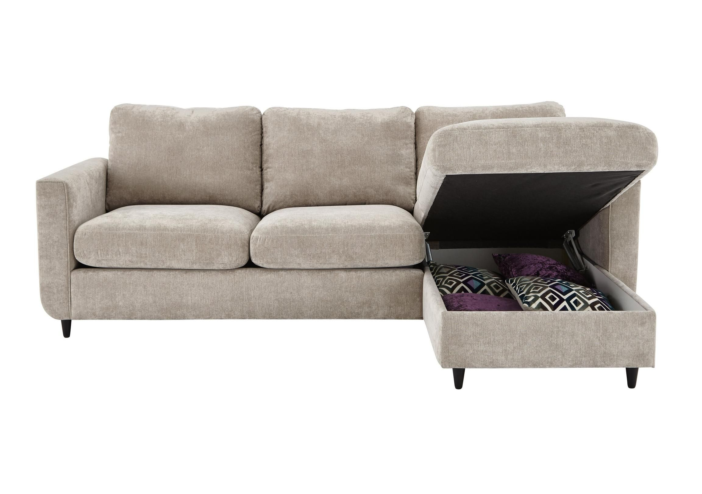 Esprit Fabric Chaise Sofa Bed with Storage NYC life