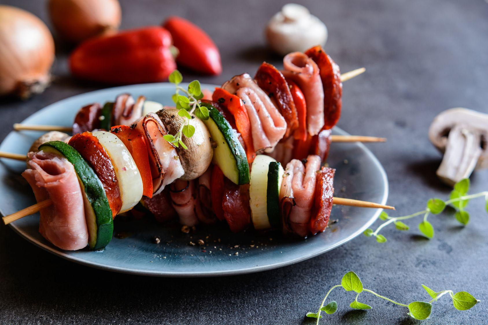 Brochettes de champignons | Recette, Recettes de cuisine ...
