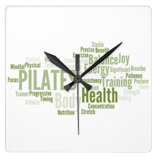 Pilates Wall Clock Zazzle Co Uk In 2020 Clock Wall Clock Cool Clocks