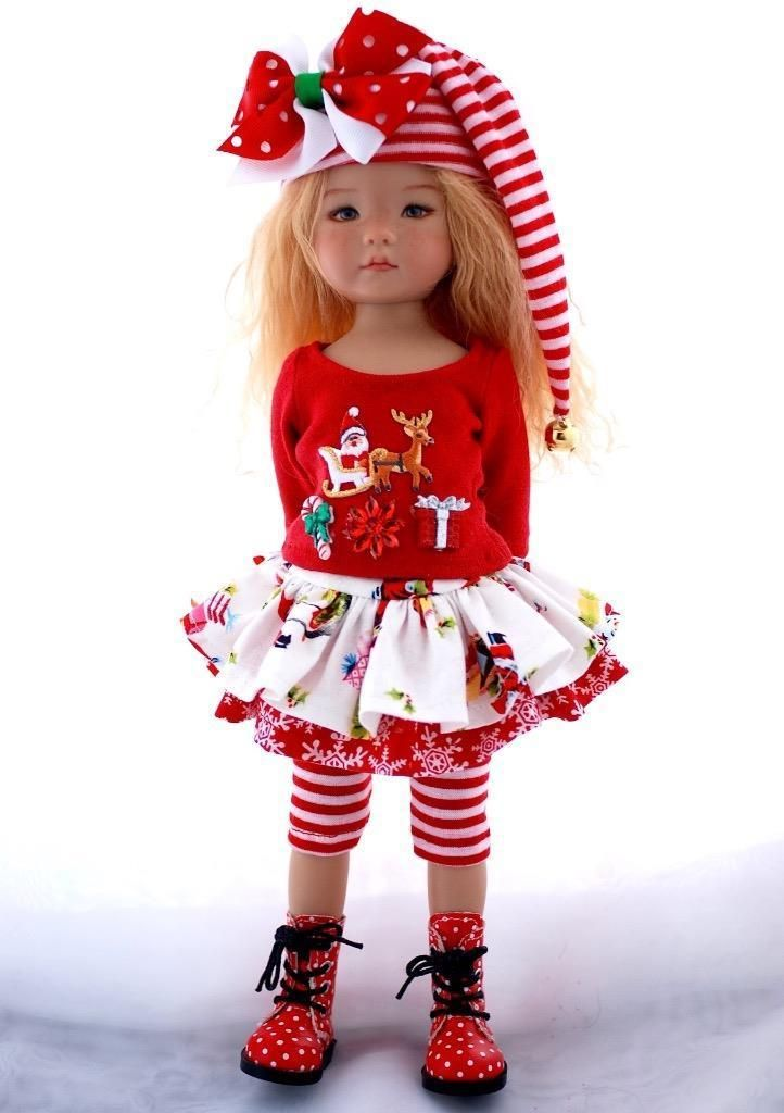 """Santa's Sleigh~Christmas Holiday Outfit for 13"""" Effner Little Darling by Sharon"""
