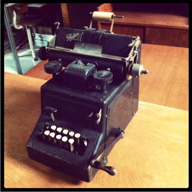 Te koop een antieke rekenmachine adding machine van dalton afkomstig uit de jaren 39 10 van de - Decoratie slaapkamer jongen jaar oud ...