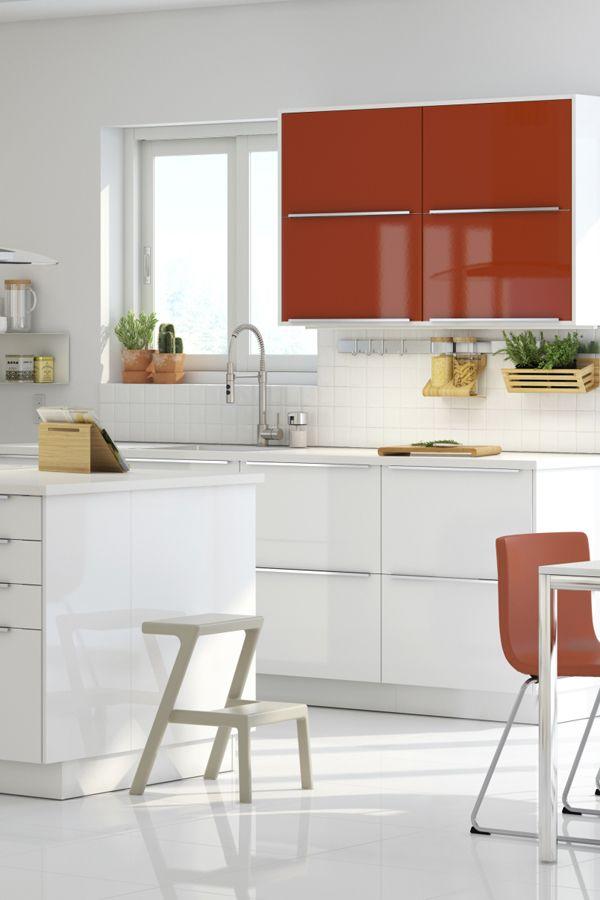 White Kitchen Orange Accents jÄrsta door, orange high gloss orange | high gloss, kitchens and