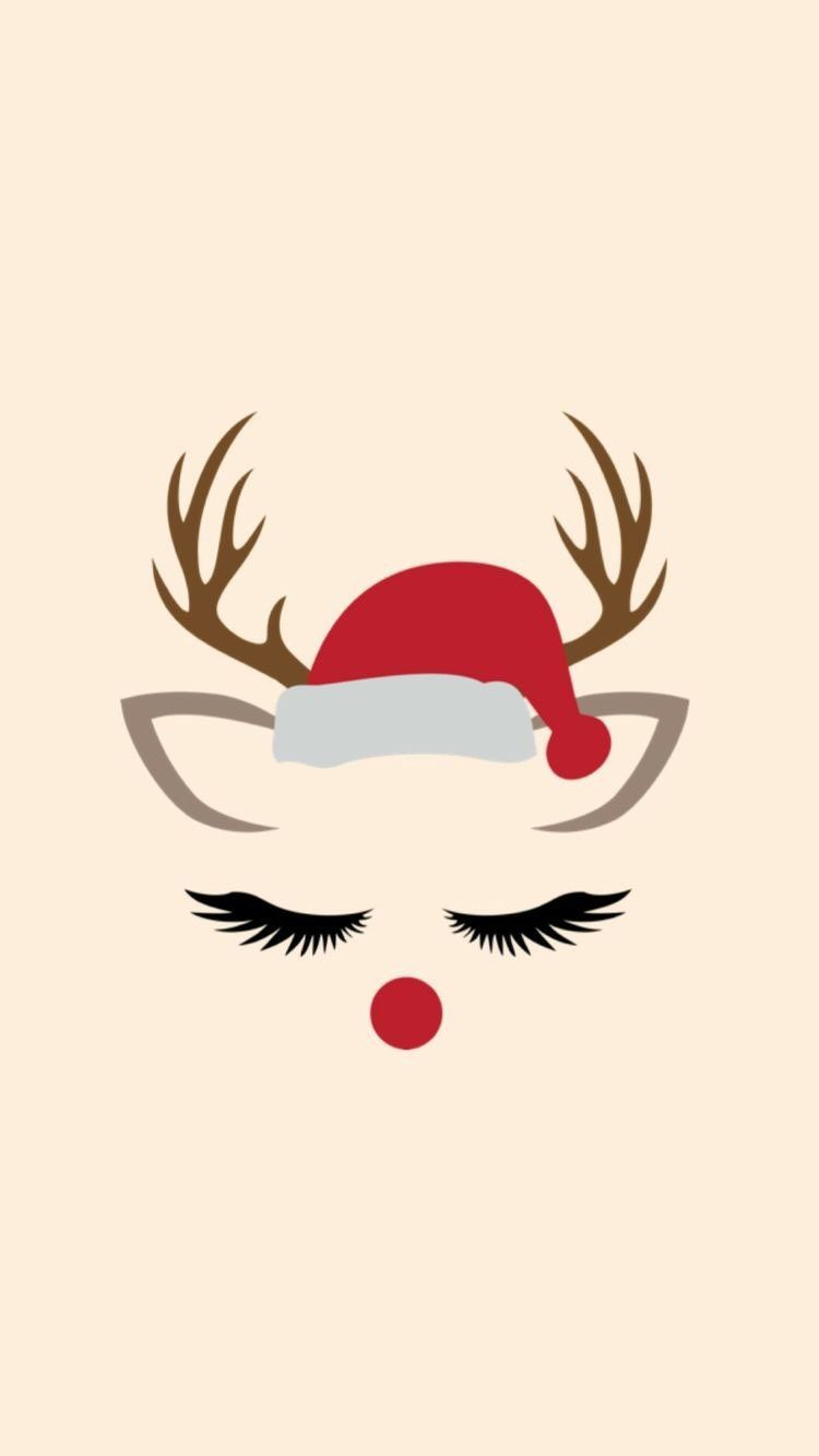 Iphone And Android Wallpapers Pretty Reindeer Wallpaper For Iphone And Android Wallpaper Iphone Christmas Christmas Phone Wallpaper Cute Christmas Wallpaper
