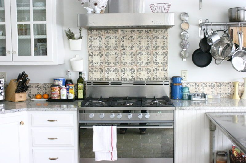 Spanish Tile Kitchen Backsplash