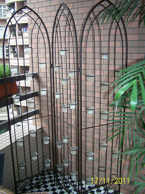 200rmb iron rod tea light candle room divider Gadgets I Want