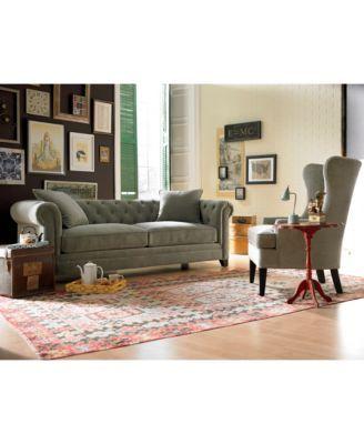 Martha Stewart Saybridge Living Room Furniture | macys.com | Living ...