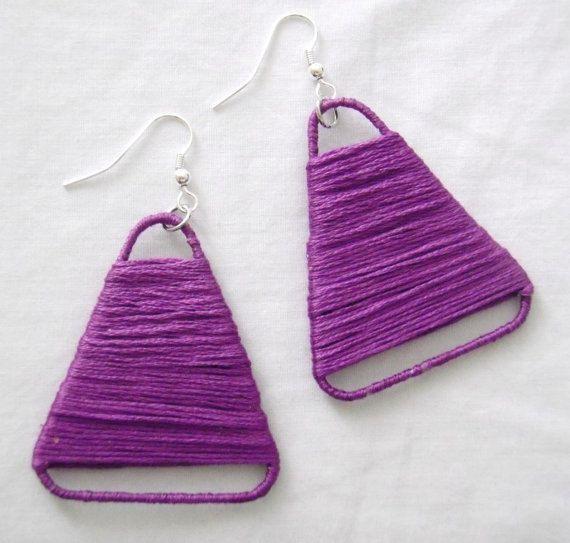 earrings from paper clips