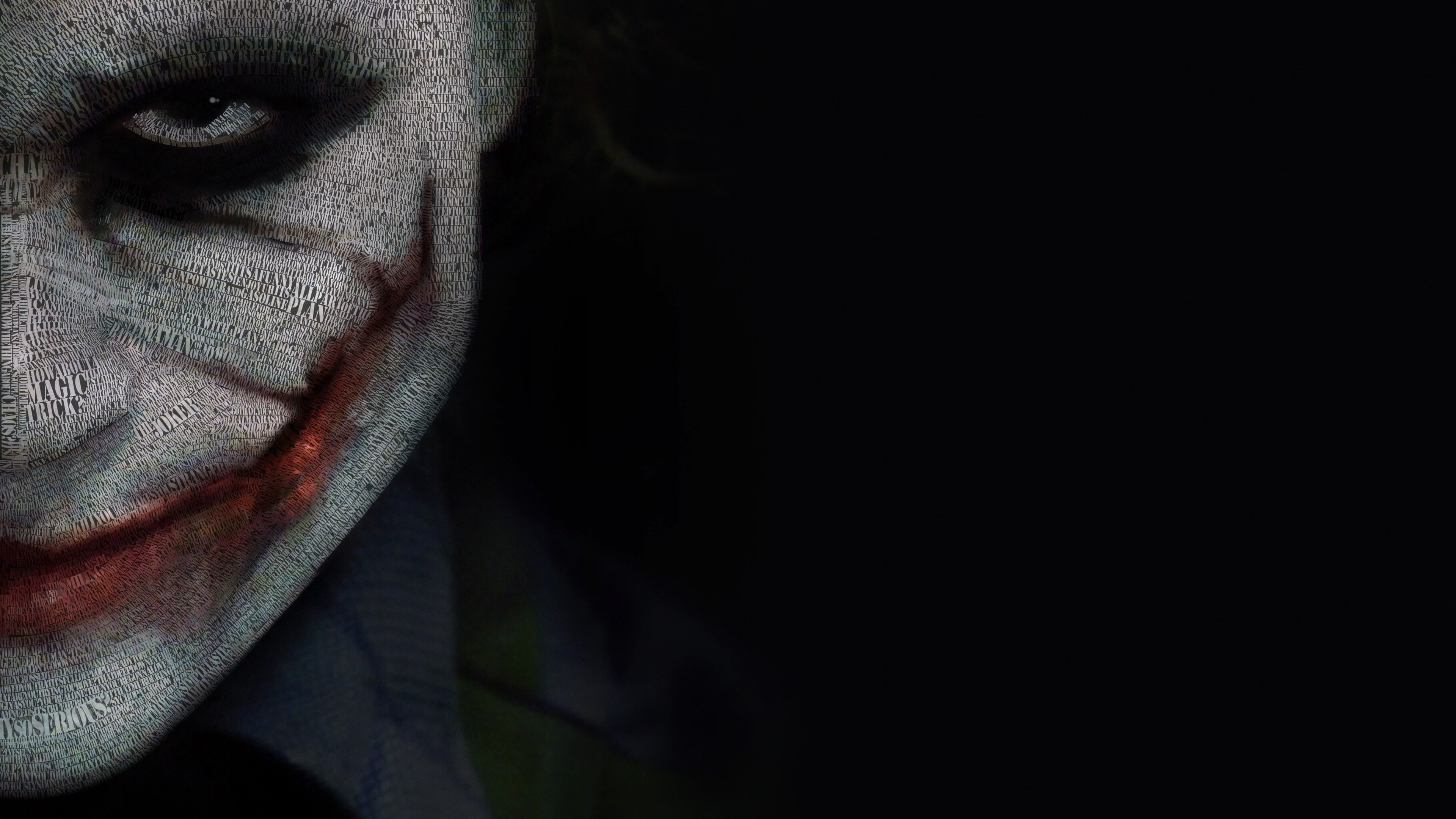 The Joker Typeface Portrait 3840 X 2160 Wallpaper Joker Pics 4k Wallpaper For Mobile Joker Hd Wallpaper