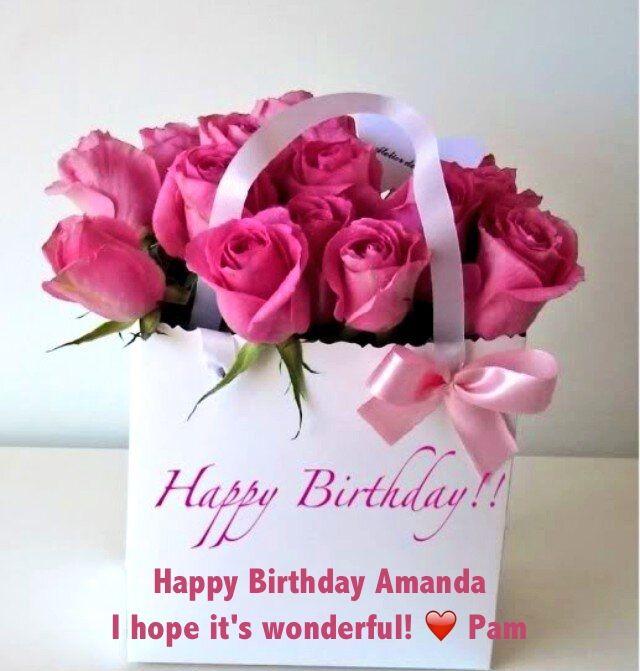 Happy Birthday Amanda Happy Birthday Flower Happy Birthday