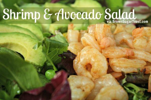 Shrimp & Avocado Salad - perfect for summer dinner!