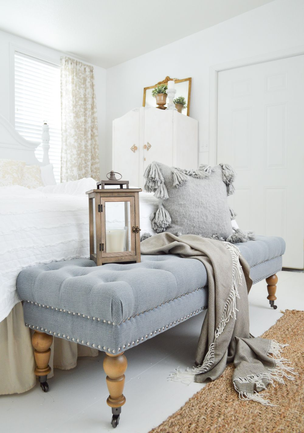 Vintage Cottage Guest Bedroom Makeover | Herringbone, Bedrooms and ...